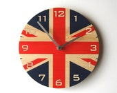 Objectify Union Jack Wall Clock With Numerals - Medium Size