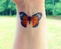 Temporary Tattoo - Butterfly Tattoo - Monarch Butterfly Tattoo
