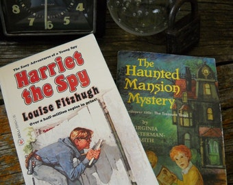 Vintage Mystery Books - Harriet the Spy and The Haunted Mansion Mystery - Set 2