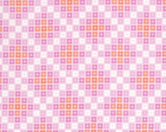 36108 -  Erin McMorris Weekends Hopscotch EM26 in Pink  color- 1 yard