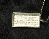 The Beastie Boys, 1998 - Concert ticket stub necklace