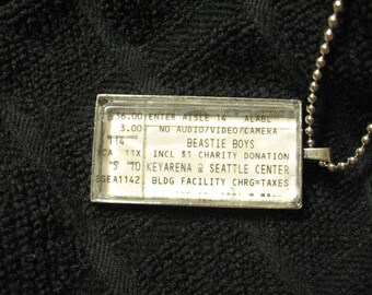 The Beastie Boys, 2004 - Concert ticket stub necklace or keychain