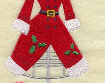 Mrs Claus Christmas Dress Form Embroidered Flour Sack Hand/Dish Towel