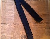 1980s black satin skinny tie