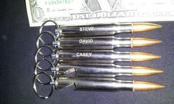 five engraved nickel plated 3006 bullet bottle opener keychain. Black Bedroom Furniture Sets. Home Design Ideas