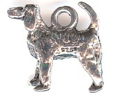 BLOOD HOUND Charm. Pewter. 3D Generic Dog. Made in the USA.