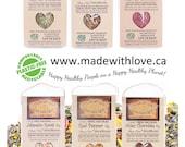 Six Artisan Spice Blends - Made with Love - Organic Herb Spice Blend - DIY Pasta Sauce Mix - Dip Mix - BBQ Grill Rub - Salad Mix - Real Food