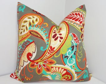 Covington Whimsy Multi-color Paisley Print Pillow Covers Decorative Throw Pillow Covers All Sizes