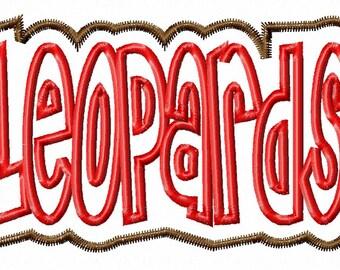 LEOPARDS - Double Applique - 10 sizes - Machine Embroidery Design