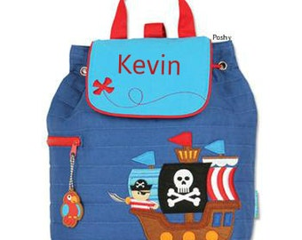 Custom Boy Backpack or Baby Diaper Bag Stephen Joseph Quilted Pirate Ship