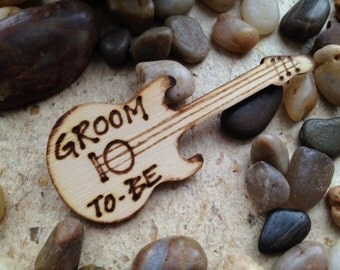 Groom to Be Lapel Pin for Engagement party or Bachelor Party Electric Guitar Photo Prop Wedding Decoration Wedding Rehearsal