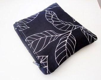 SALE Navy blue pouch, Fabric gadget pouch, Cosmetic bag, Zipper pouch, Makeup Bag, Cotton zip pouch, Zipper cosmetic pouch, READY to ship
