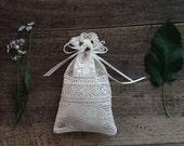 Bag, Lace gift bag, Wedding favor bag, Baby shower favor bag