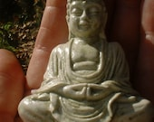 Tiny Pocket Buddha for Travel and Gifting in Mossy Stone finish