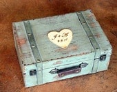 Wedding Card Box Trunk Wine Love Letter Ceremony Anniversary Rustic Shabby Chic Vintage Wedding Custom ( LARGE)