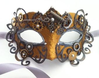 You Design Custom Steampunk Venetian Mask