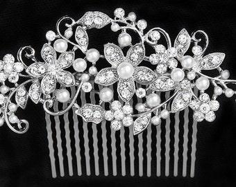 SALE SWAROVSKI crystal pearl bridal head piece