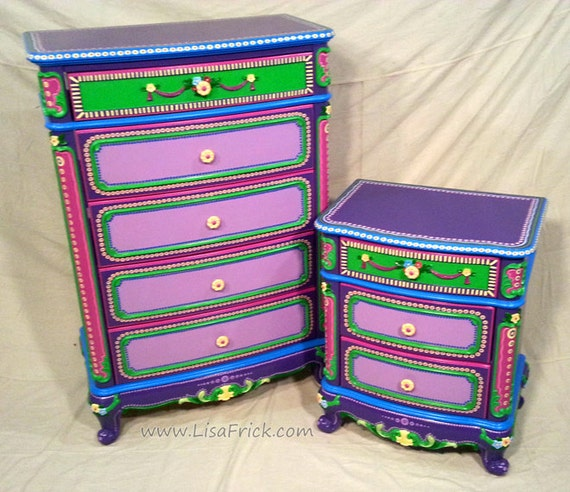 Funky Custom Made Dressor & End Table