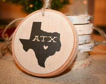 Austin Texas Wooden Ornament or Magnet