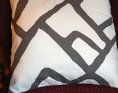 "ONE Zimba in Charcoal 12"" by 18"" pillow cover"