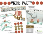 Reserved- Viking Birthday Printable Party Pack PDF