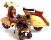 Crochet amigurumi dog - CoCo MochiQtie - Mini size Amigurumi stuffed animal toy doll