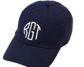 Monogrammed Navy Hat, Monogrammed Navy Cap, Monogrammed Baseball Hat, Womens Baseball Hat, Ladies Baseball Cap, Bridesmaid Gifts