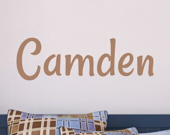 Boy Name Wall Decal Bedrom Decor Personalized Name Childrens Wall Decals Vinyl Lettering