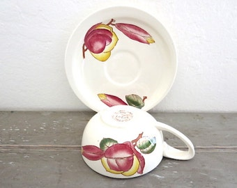 California Pottery Vernonware Cup and Saucer Lotus