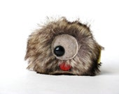 Brown Monster Stuffed Keychain: Mini Wooky