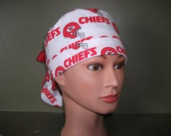 Chiefs ponytail scrub cap