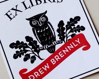 Wizard Owl Bookplate, Set of 24