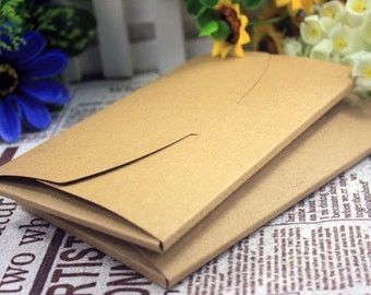 DIY Postcard Collective Envelope Box -  made of Thick Kraft Paper - 3 Sheets