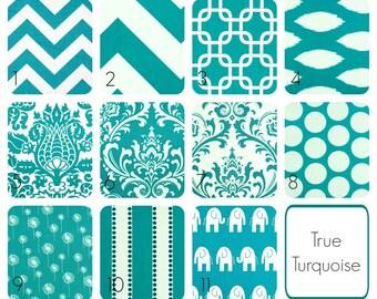True Turquoise Drapery Curtain Panels. 63, 84, 96, 108, 120 Length. Window Treatments. Chevron, Ikat, Damask, Stripes
