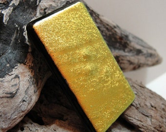 Extra Large Dichroic Fused Glass Money Clip, Salmon Colored Mens Accessories, Money Holder, Gifts for Him Under 30 Dollars, Gifts for Dad