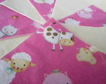 Diaper Wipes/Flannel Washcloths/Cloth Diaper Wipes for Baby, Sheep, Cows, and Pigs (10)