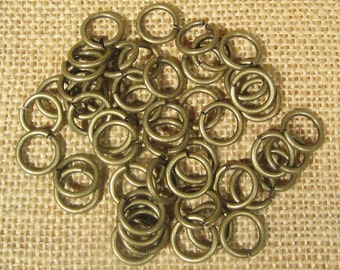 12mm 14ga Antique Brass Jump Rings - Choose Your Quantity