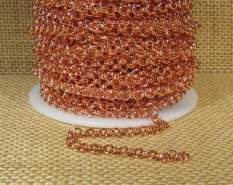 25ft Rolo Chain - Bright Copper - CH12