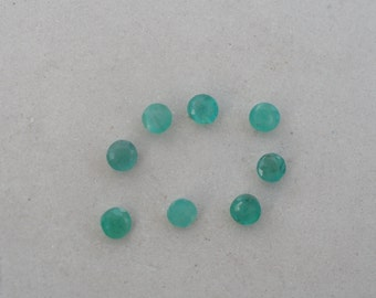 Over 1 carat Colombian emerald round gem parcel 3mm each