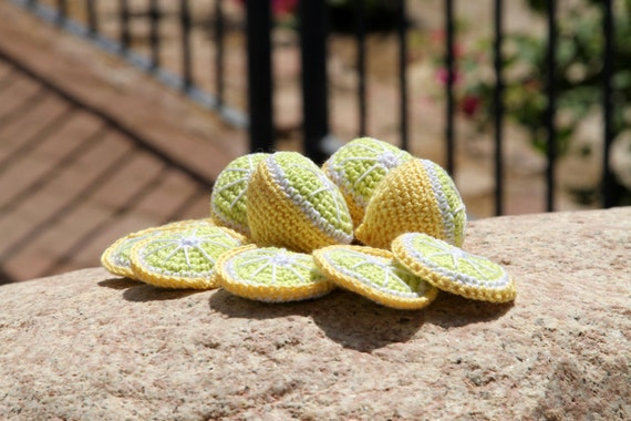 How to crochet lemon Toy Play Food Amigurumi Food Play Kitchen Play Set PATTERN PDF
