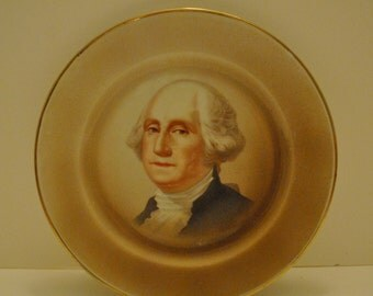 Vintage George Washington COLLECTABLE PLATE Home Decor Colonial Pride