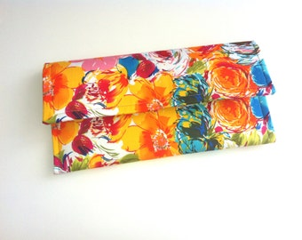 Floral clutch bag 063413