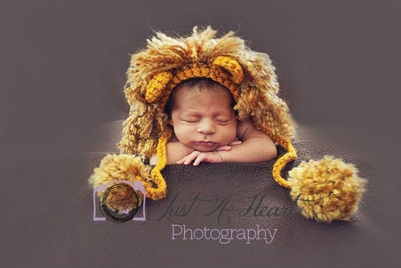Free Knitting Pattern Lion Brand® Vanna's Choice® - Vanna's Choice® Baby Gramminal Lion Hat Pattern Number: L Reproduced with permission from Gramma Nancy's Animal Hats (and Booties Too!) by Nancy Nielson, published by Potter Craft.