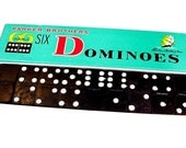 Vintage Domino Game Parker Bros Double Six Wooden Dominoes Sailing Ship Design in Original Box itsyourcountry