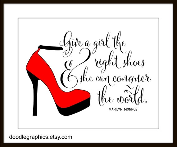Marilyn Monroe Quotes Red Shoes