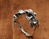 Kissing Crested Gecko Ring