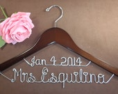 Hanger with Date for your wedding pictures, Personalized custom bridal hanger, brides hanger, Bridal Hanger, Wedding hanger, Bridal