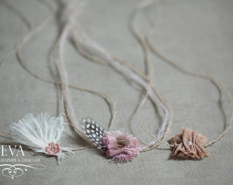 Headband for newborn photography - set of 3