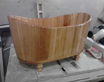 Cypress Wooden Sink - Clawfoot
