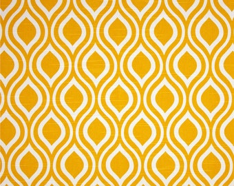 Yellow White Geometric Nicole Curtains  Rod Pocket  63 72 84 90 96 108 or 120 Long x 24 or 50 Wide